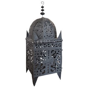 Authentic Moroccan Large Wide Floor Standing Tin Lanterns