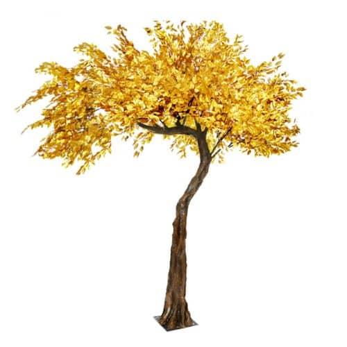 3.2m Canopy Gold Leaf Tree