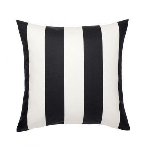 40cm Black and White Cushion
