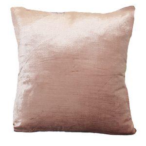 40cm Metallic Pink Velvet Cushion