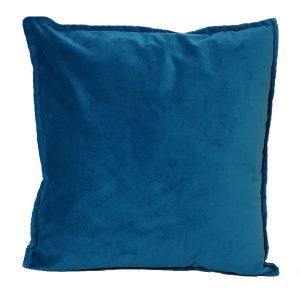 40cm Teal Velvet Cushion