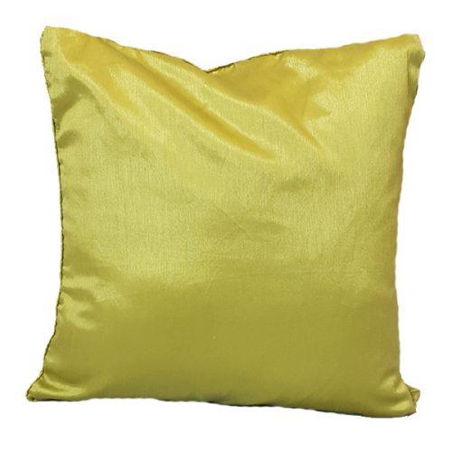 40cm Textured Satin Green Cushion