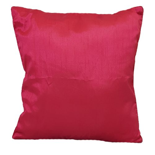 40cm Textured Satin Pink Cushion