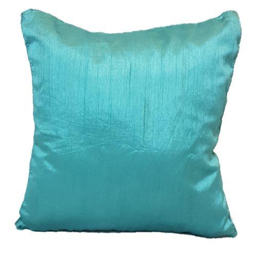 40cm Textured Satin Turquoise Cushion