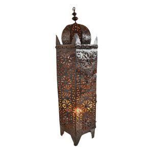 Authentic Moroccan Extra Large Floor Standing Tin Lanterns