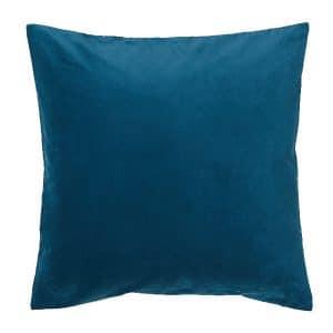 50cm Dark Turquoise Velvet Cushion