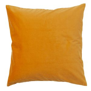 50cm Mustard Yellow Velvet Cushion