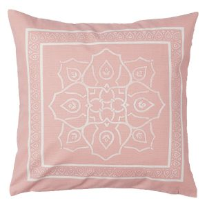 50cm Pink Patterned Cushion