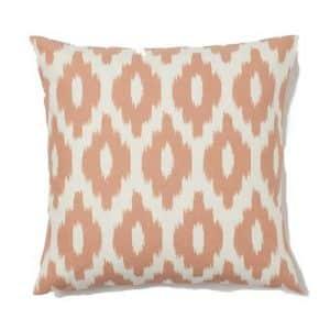 50cm Peach Patterned Cushion