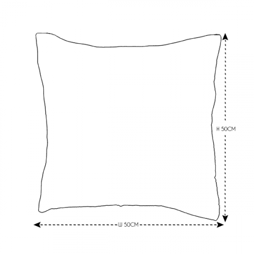 50cm Grey Knit Cushion
