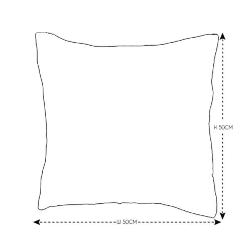 50cm Grey Patterned Cushion