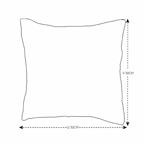 50cm Natural Leaf Print Cushion