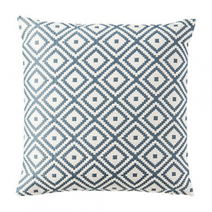 50cm Teal Geometric Cushion
