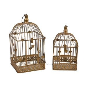 Gold Bird Cage Large