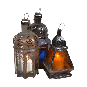 Authentic Moroccan Large Assorted Glass Lanterns