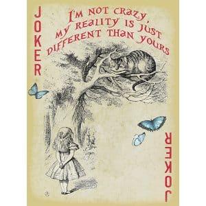 Alice in Wonderland Fabric Playing Cards Medium (Cheshire Cat)