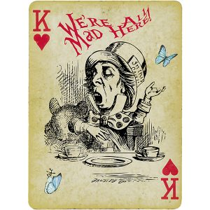 Alice in Wonderland Fabric Playing Cards Medium (Mad Hatter)