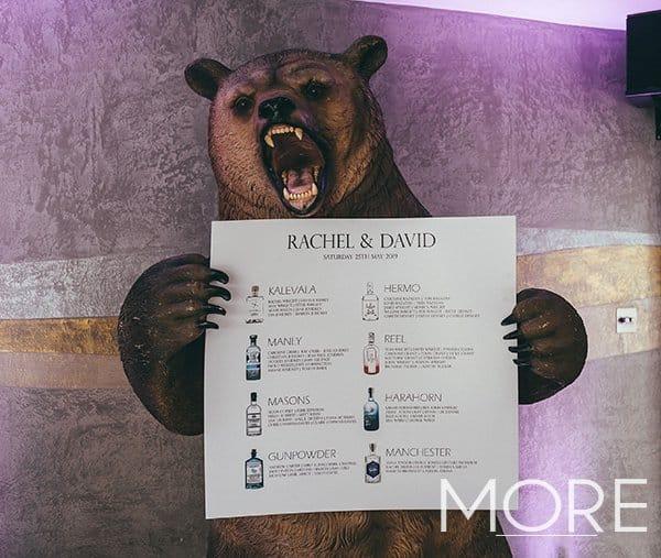 Bear prop wedding
