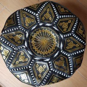 Moroccan Black Pouffes