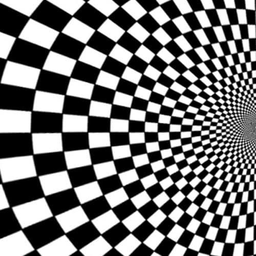 Black and White Illusion Backdrop Left