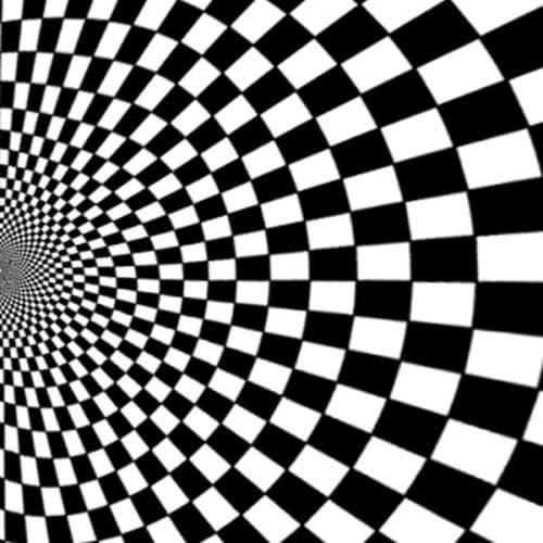 Black and White Illusion Backdrop Right