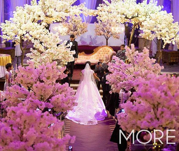 Blossom Trees Empire Hall wedding