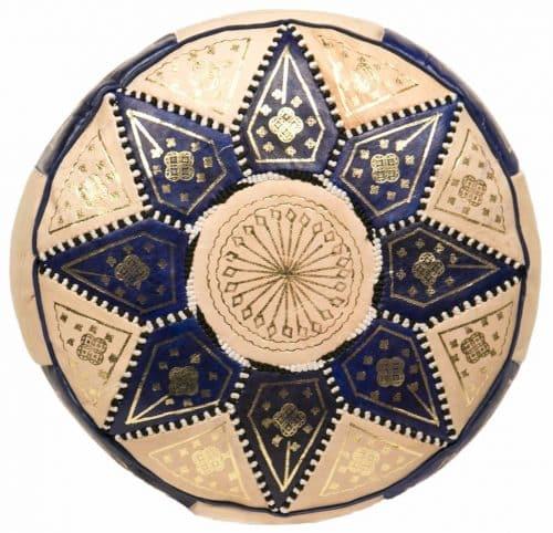 Moroccan Blue/Navy Pouffes