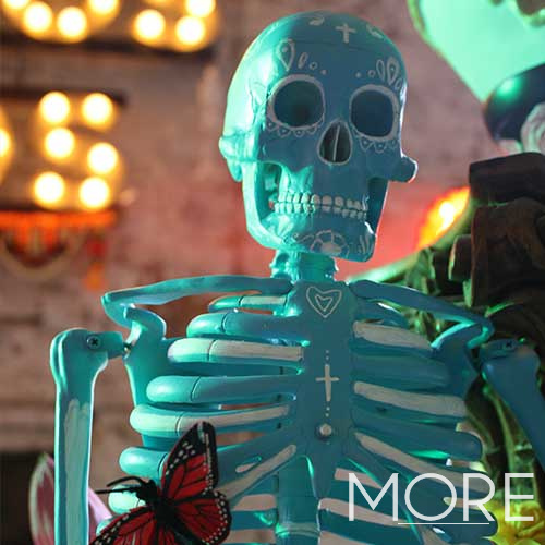 Small Day Of The Dead Blue Skeletons