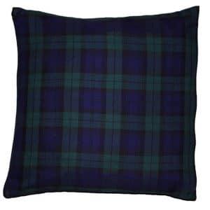 50cm Blue Tartan Cushion