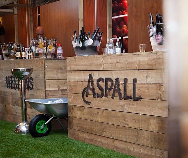 Waitrose food & drinks festival branded pallet bar exhibition stands