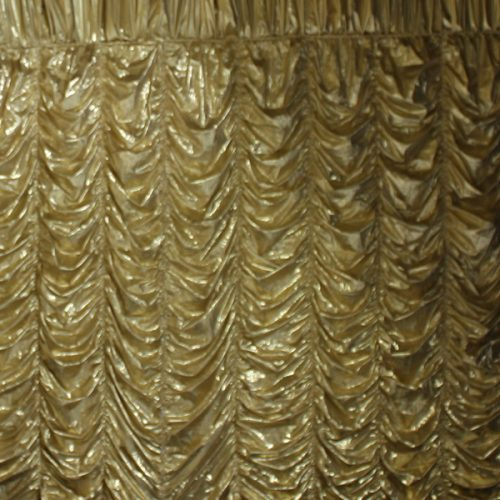 Gold Cabaret Drape 3.5m drop per 2m section