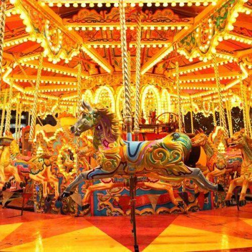 Carousel Horse Backdrop