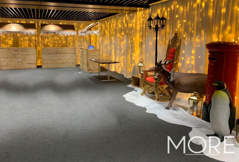 Christmas theme full venue warm white fairy light curtain