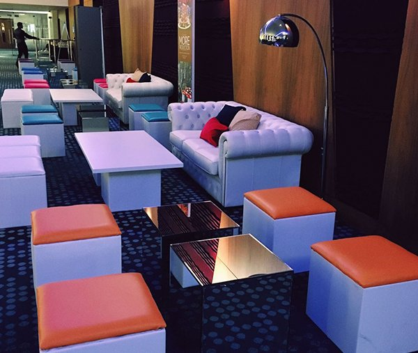Colours range exhibition lounge furniture