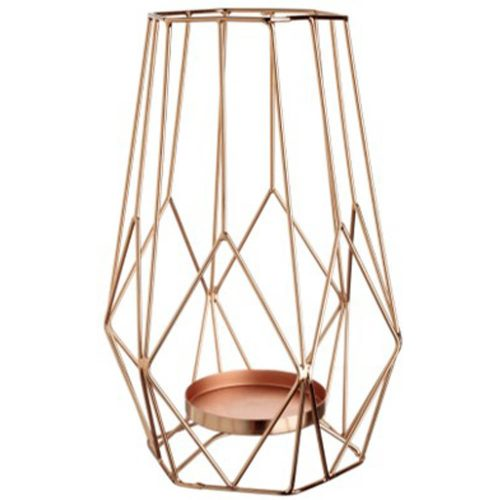 Geometric Copper Candle Holder