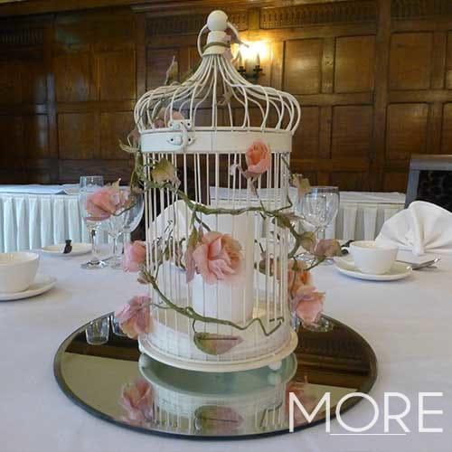 Medium Cream Bird Cage