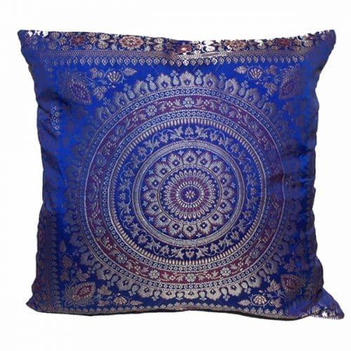 Dark Blue Moroccan Cushion