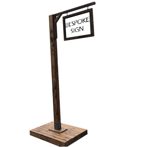 Dark Stained Timber Sign Posts