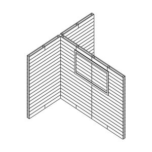 Double Pallet Wall Stand