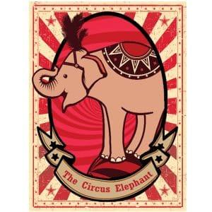 Elephant Circus Poster 1.5mx2m