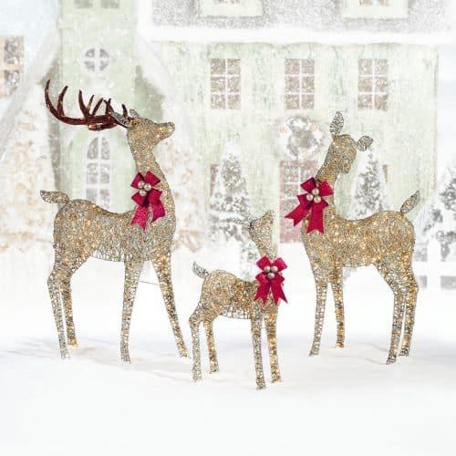 LED Family Of Reindeer