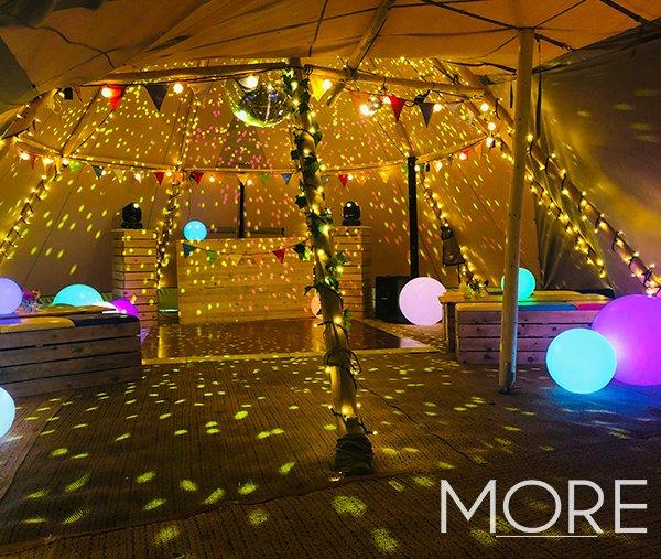 Festival theme tipi festoon canopy