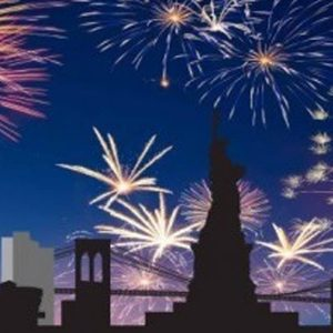 New York Firework Backdrop