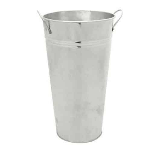 Galvanised Vase 20cm