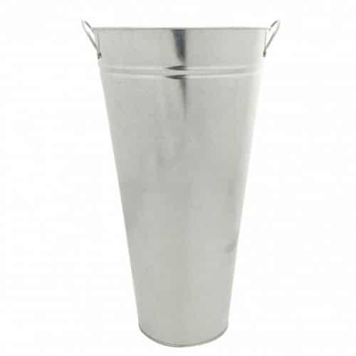 Galvanised Vase 45cm