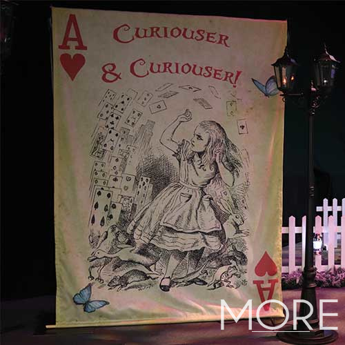 Alice in Wonderland Fabric Playing Cards Large (Alice)