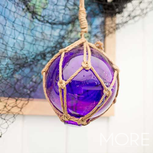 Glass Buoy Small Purple