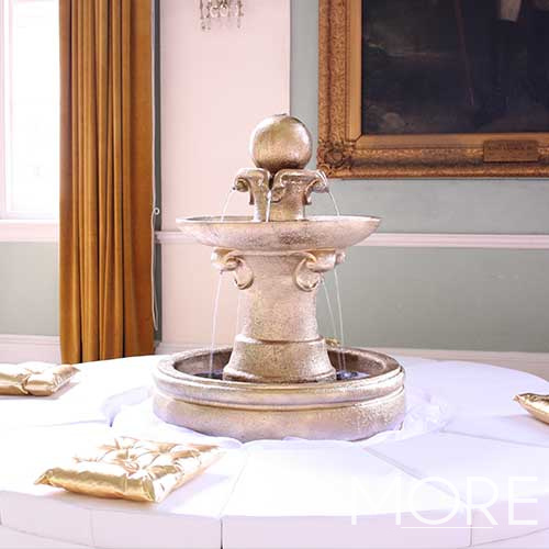 Water Fountain with Seating