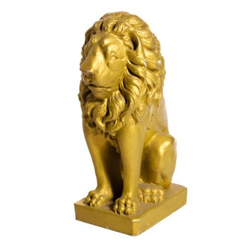 Gold Lion Statue P.E