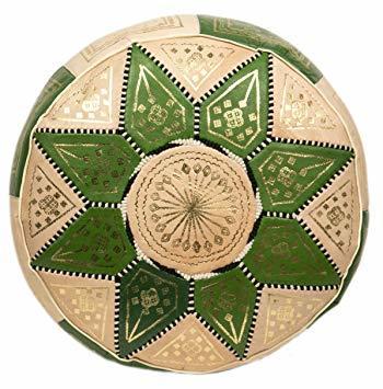 Moroccan Green Pouffes